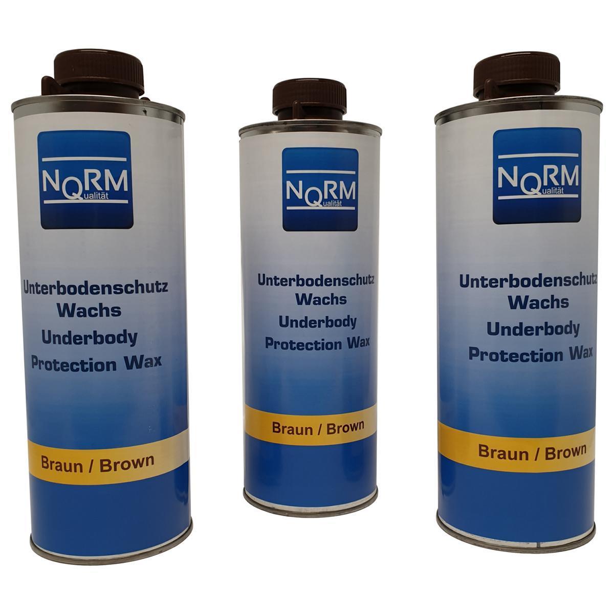 Unterbodenschutzwachs UBS Wax für Unterboden 3x 1Liter Korrsionsschutz Braun